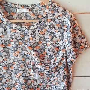 Whistles sheer floral silk tee 4 (XS/S)